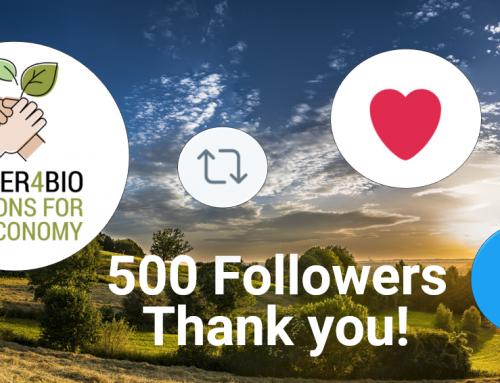 POWER4BIO reached 500 followers on Twitter!
